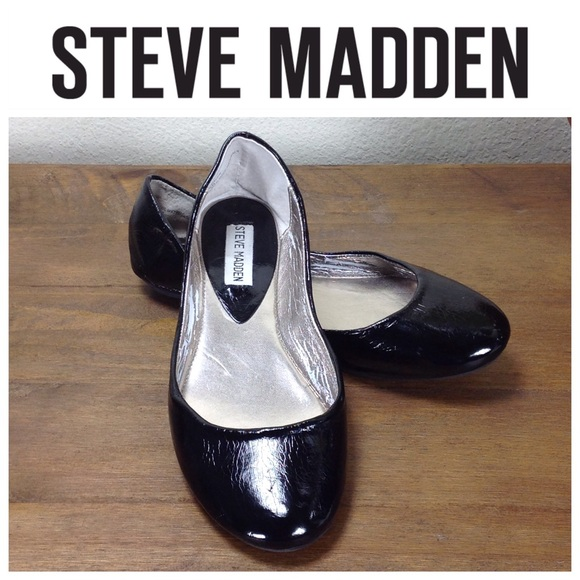 ccc00abfc82 Steve Madden Black Patent Leather Ballet Flats. M 5aa488753a112ee28ff98b27